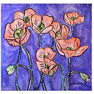 Red Poppies Cushion by Alexandra Felgate