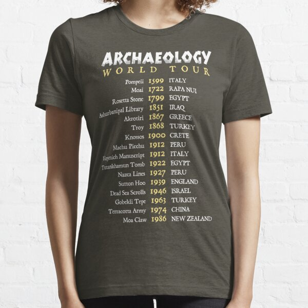 Archaeologist World Tour Funny Historical Dig Sites Essential T-Shirt