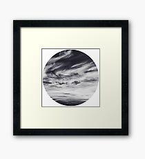 moon of sky // white Framed Print