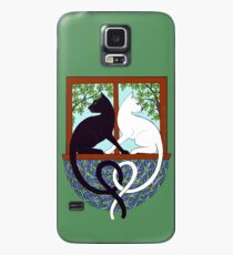 Two Cat Window Case/Skin for Samsung Galaxy