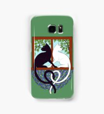 Two Cat Window Samsung Galaxy Case/Skin