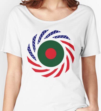 Bangladeshi American Multinational Patriot Flag Relaxed Fit T-Shirt