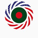 Bangladeshi American Multinational Patriot Flag by Carbon-Fibre Media