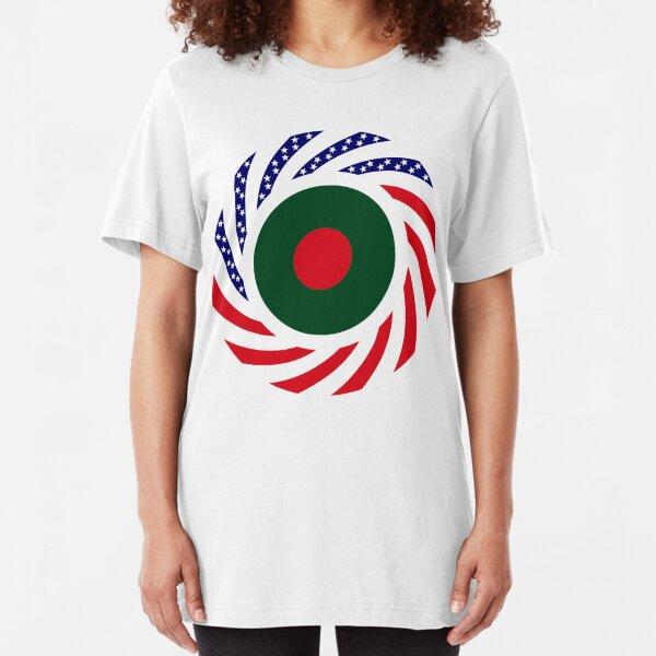 Bangladeshi American Multinational Patriot Flag Slim Fit T-Shirt