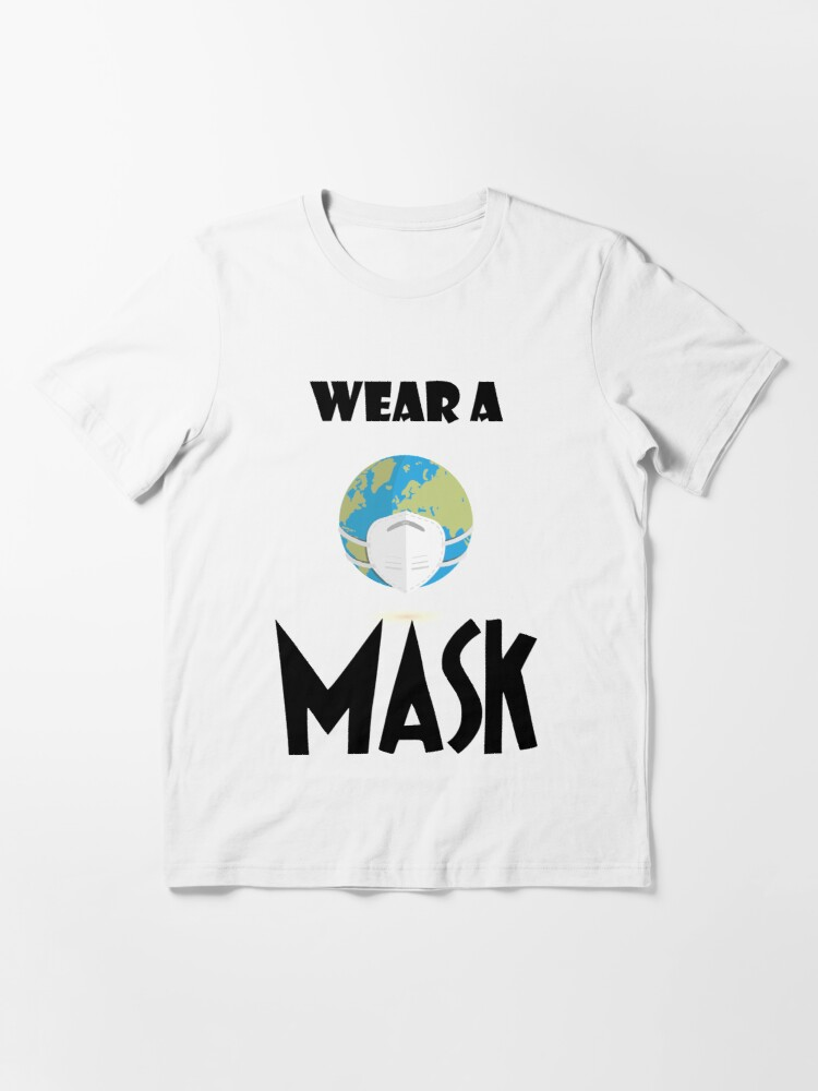 Alternate view of Wear a Mask by mickydee.com Essential T-Shirt