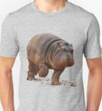 Baby Hippo on the Run: Tee Unisex T-Shirt
