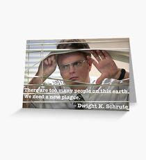 Tarjeta de felicitación Cita de Dwight Schrute