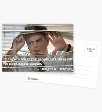 Dwight Schrute Quote Postcards