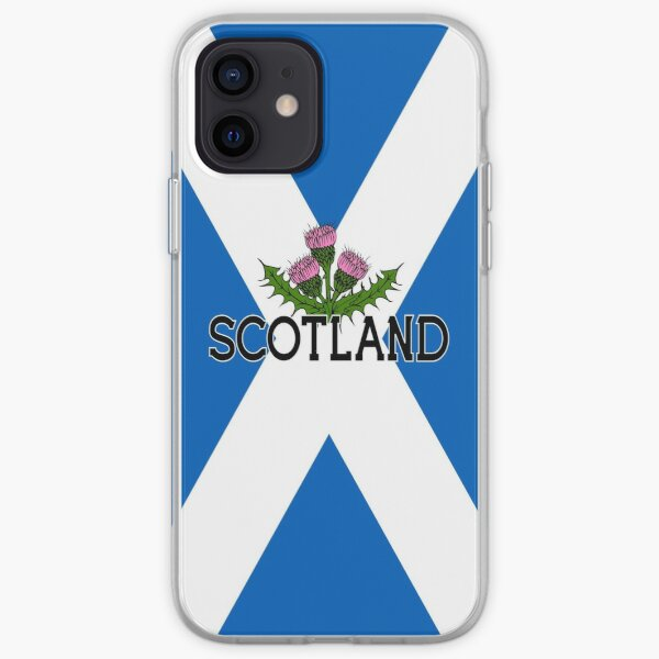 Scotland Saltire Flag - Scottish St Andrews Cross and Thistle iPhone Soft Case