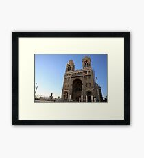 Marseille Cathedral, Roman Catholic cathedral in Marseille, southern France Framed Print