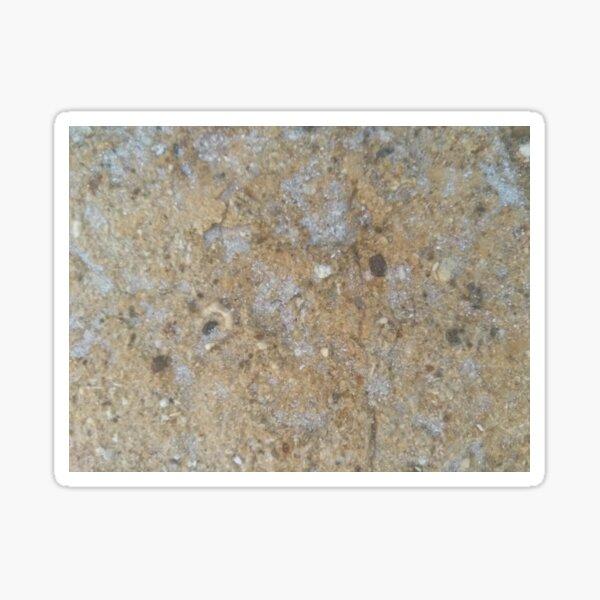 Gold & Silver Sand Rock Design Sticker