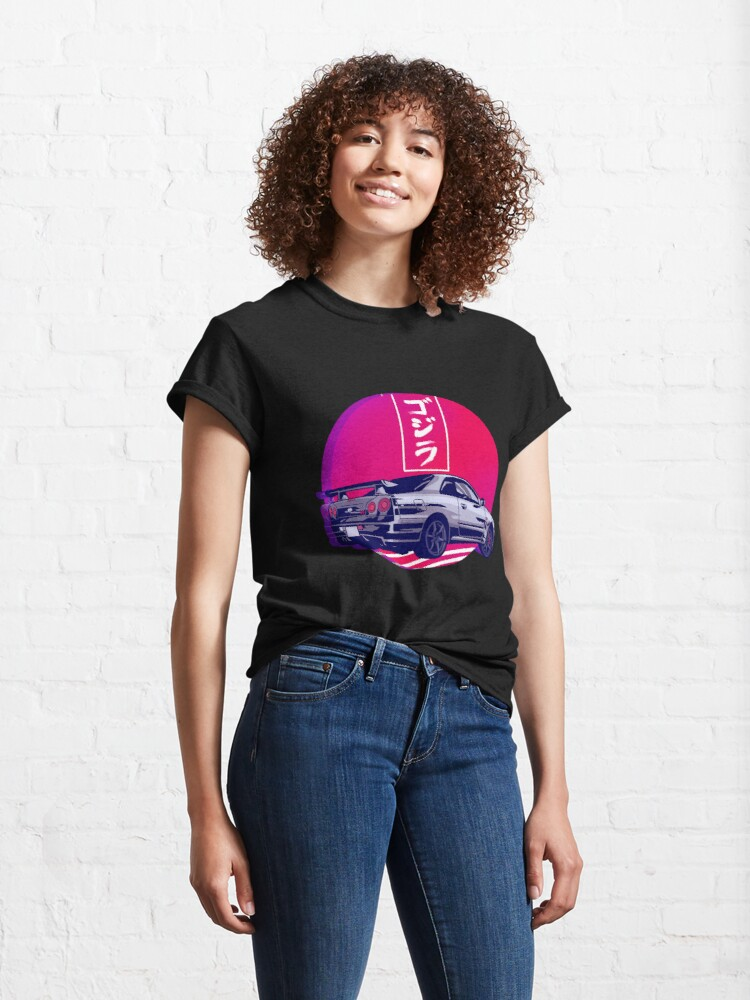Alternate view of GTR R34 Gojira Sunset Classic T-Shirt