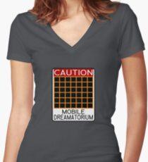 Mobile Dreamatorium Women's Fitted V-Neck T-Shirt
