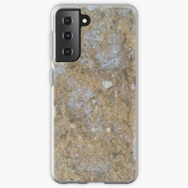 Gold & Silver Sand Rock Design Samsung Galaxy Soft Case
