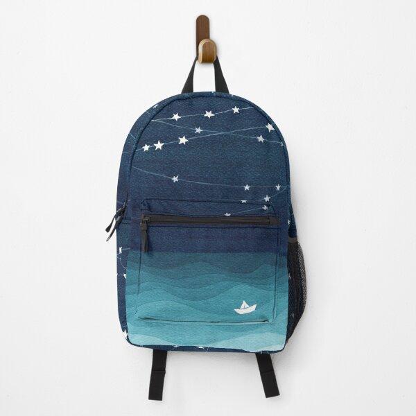 Garland of stars, teal ocean Backpack