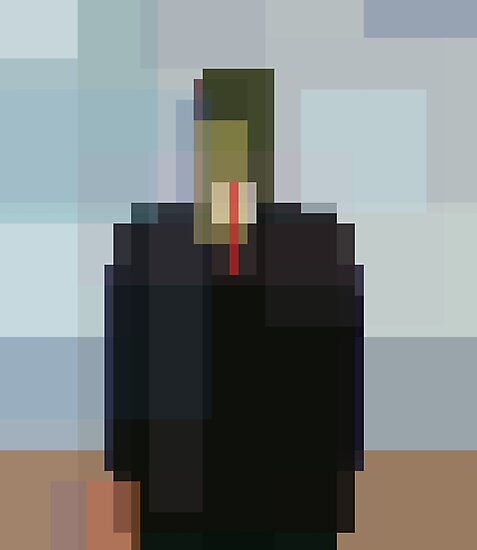 Magritte: Son of Man (computer-generated abstract version) by flatfrog00