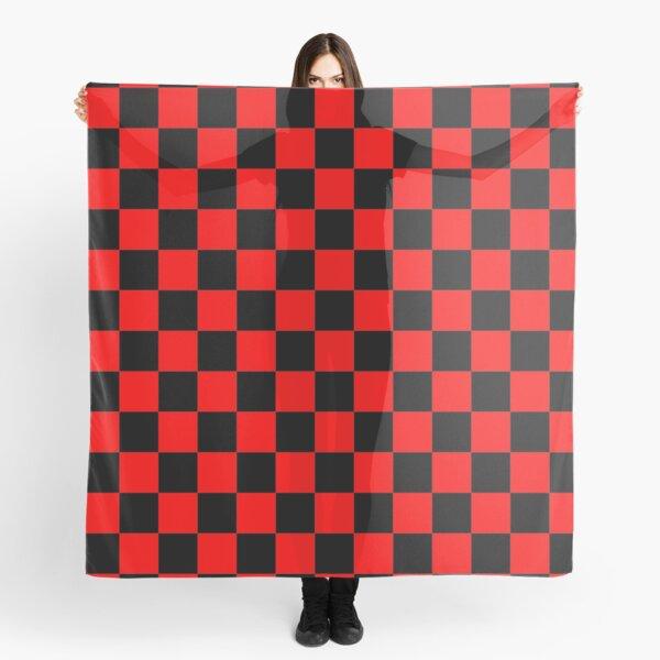 Red and Black Checkered design best for hoodies,t shirt,dress,leggings,skirt,mask,socks,mug and more Scarf