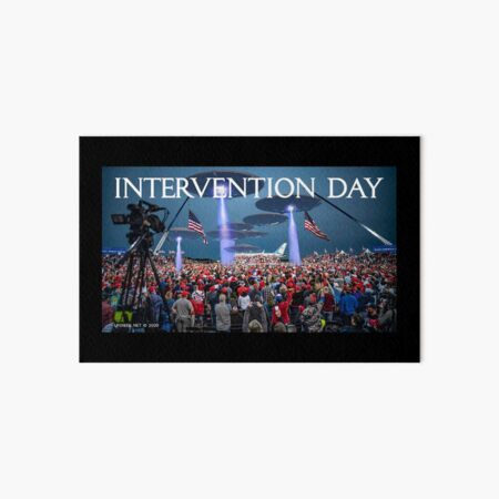 Intervention Day Art Board Print