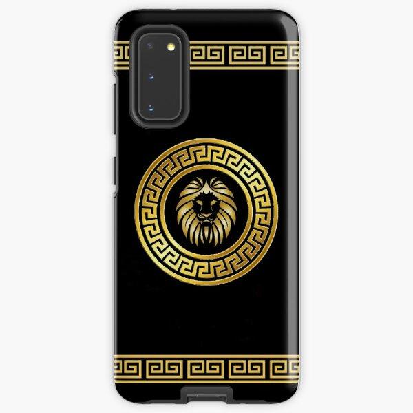 Black And Gold Meander Lion Design Luxury Samsung Galaxy Tough Case