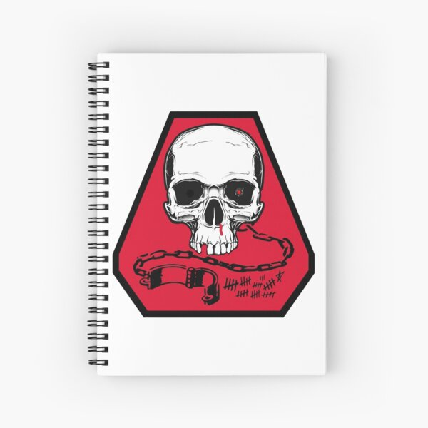 PERNICIOUS INTRIGUES — MEMORIAL PLATOON PATCH Spiral Notebook