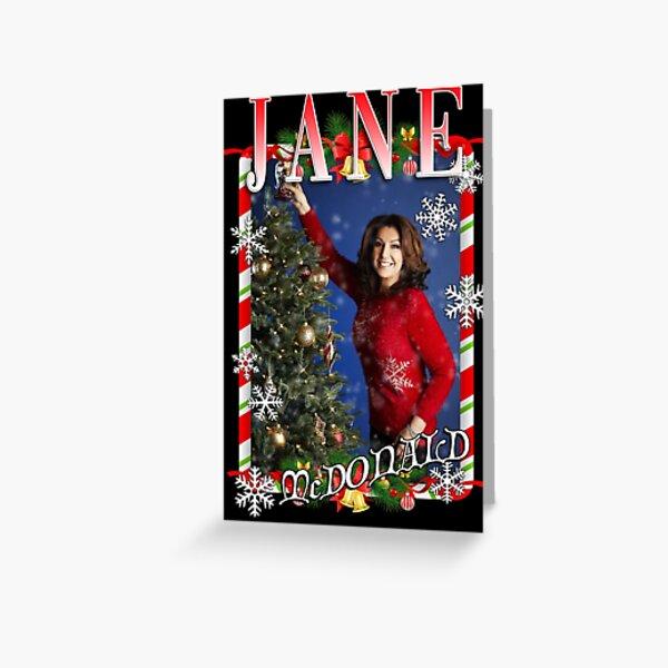 Jane McDonald Christmas Tribute Greeting Card