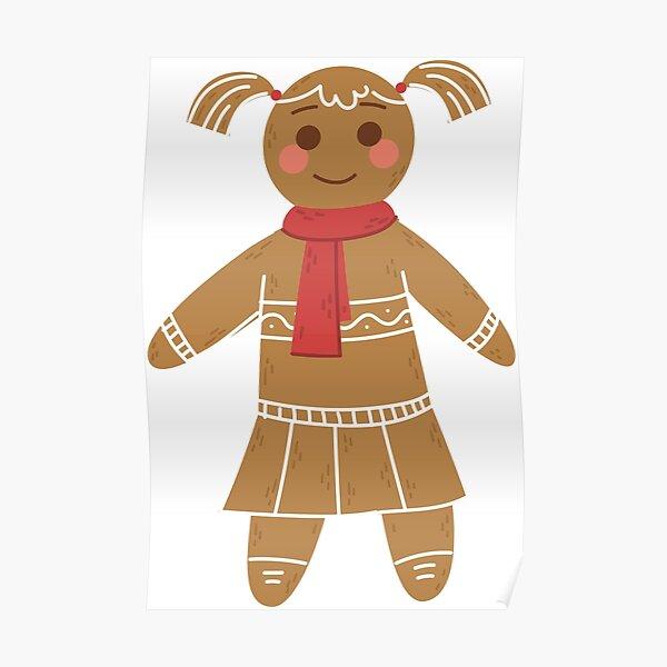 Gingerbread Girl Poster