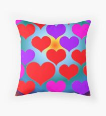 Lovehearts Throw Pillow
