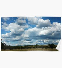 Clouds, Central Queensland Poster