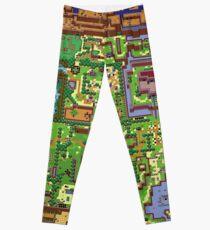 Zelda - Link's awakening world map Leggings