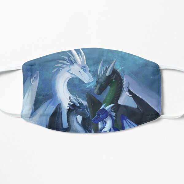 Arctic, Foeslayer, Whiteout, Darkstalker Family - Wings of Fire Flat Mask