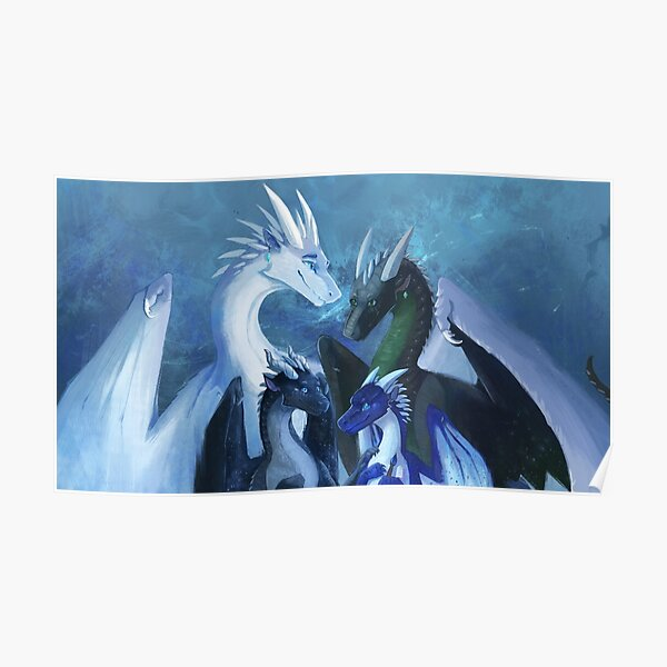 Arctic, Foeslayer, Whiteout, Darkstalker Family - Wings of Fire Poster
