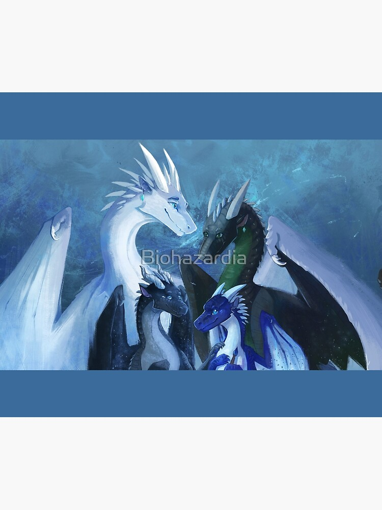 Arctic, Foeslayer, Whiteout, Darkstalker Family - Wings of Fire by Biohazardia