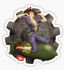 Vault Queen War Pinup Bombshell Sticker