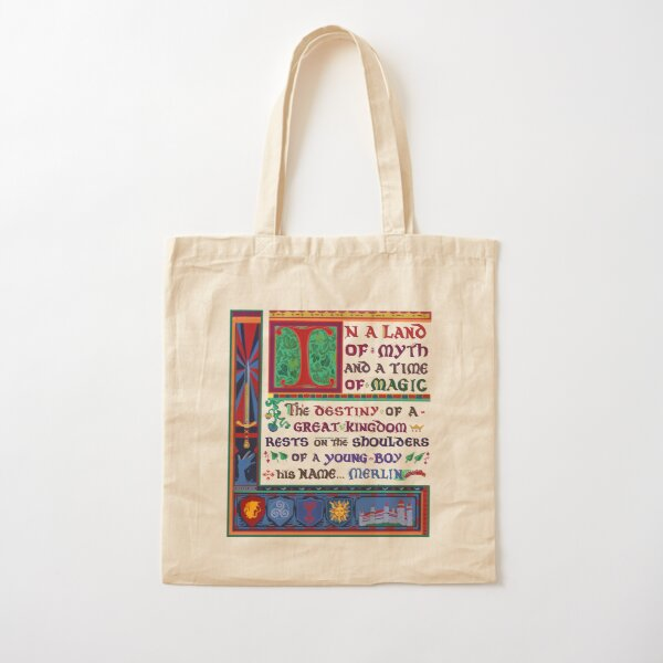 In a land of myth and a time of magic - Merlin Cotton Tote Bag