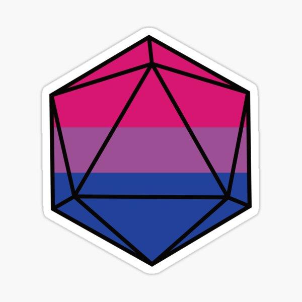 Bi Bisexual Pride DnD D20 Dice Sticker