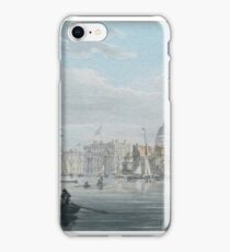 Robert Cleveley  GREENWICH FROM THE RIVER THAMES c 1791 iPhone Case/Skin