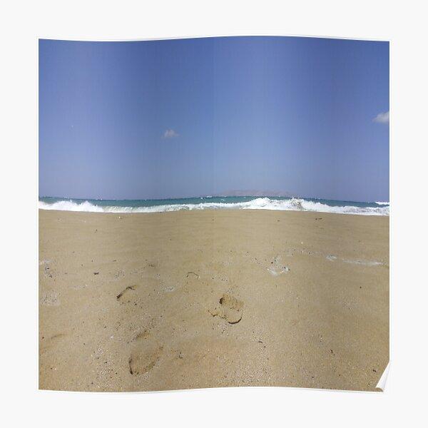 Northern Crete Beach Poster