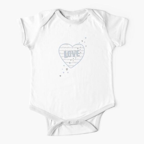 Love & Heart Short Sleeve Baby One-Piece