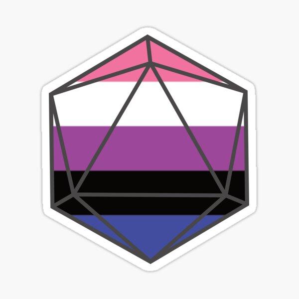 Genderfluid Pride DnD D20 Dice Sticker