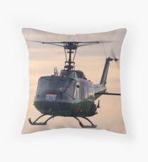 Huey Helicopter Throw Pillow