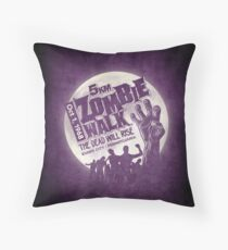 Zombie Walk - Grey Throw Pillow
