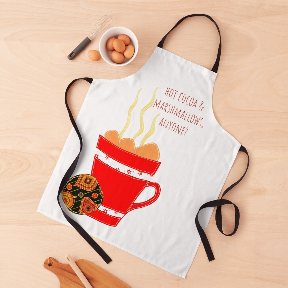 Hot Cocoa on a winter day Apron