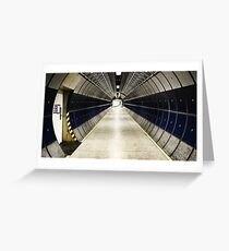 space station / tube station Greeting Card