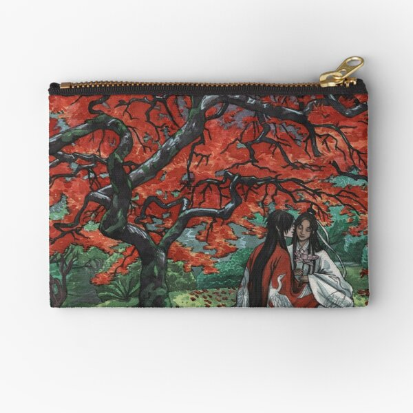 Red Maple Zipper Pouch