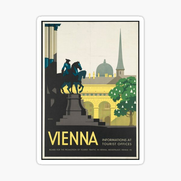 Vintage Travel Poster - Vienna Sticker