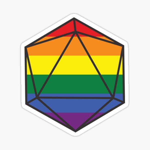 LQBTQ Pride DnD D20 Dice Sticker