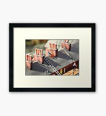 Miniature Workmen Framed Print