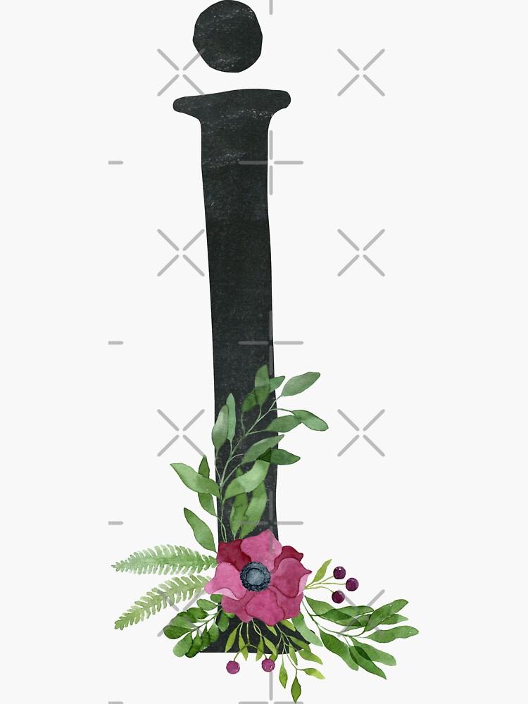 Monogram I mit Blumenkranz von helga-wigandt