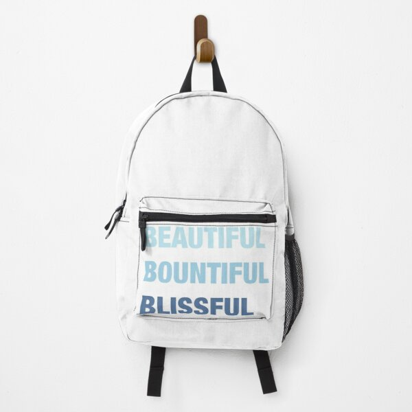 Daily mantra in blue Backpack