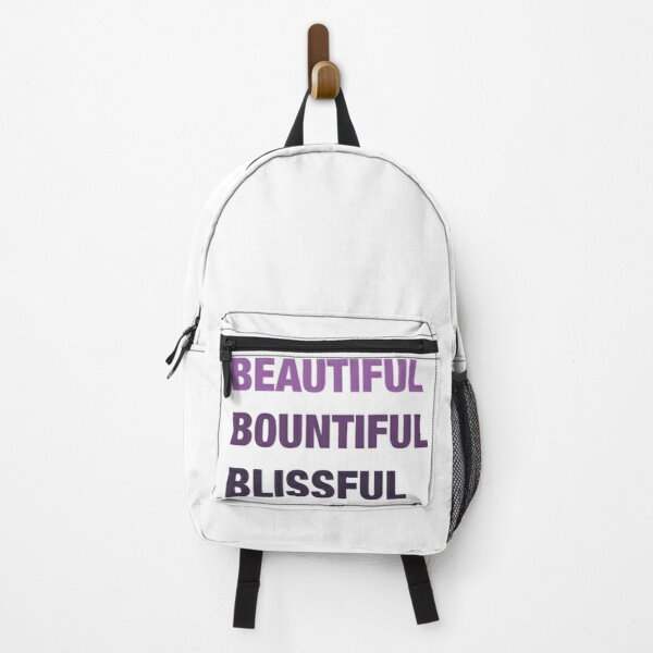 Daily mantra in purple Backpack